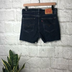 Levi's cutoffs size w32 dark wash jean shorts